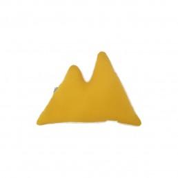 coussin 2 montagnes jaune moutarde